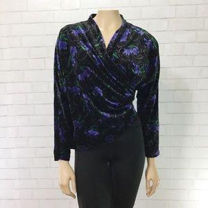 Vintage 80s Liebe Han German Designer Velvet Top
